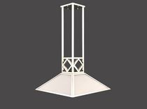 Pendant lamp / traditional / glass / brass