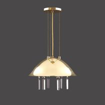 Pendant lamp / traditional / crystal / nickel