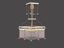 Pendant lamp / traditional / crystal / brass