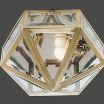 Traditional ceiling light / brass / crystal / LED