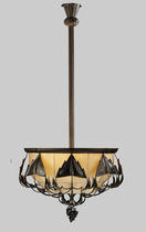Pendant lamp / traditional / brass