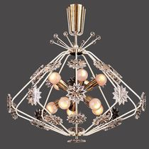 Classic chandelier / crystal / brass