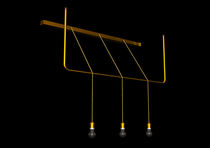 Pendant lamp / contemporary / brass / LED