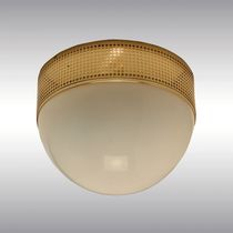 Traditional ceiling light / round / brass / blown glass