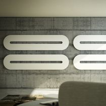 Hot water radiator / electric / steel / aluminum