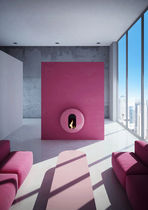Bioethanol fireplace / original design / open hearth / wall-mounted