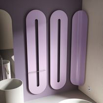 Hot water towel radiator / electric / steel / aluminum