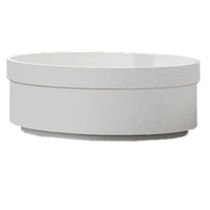 Semi-recessed washbasin / round / contemporary
