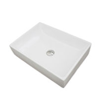 Countertop washbasin / rectangular / contemporary