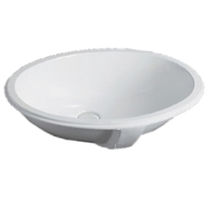 Built-in washbasin / oval / contemporary