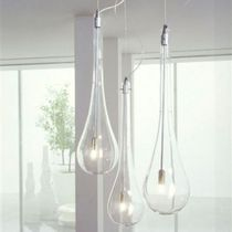 Pendant lamp / contemporary / glass / bathroom