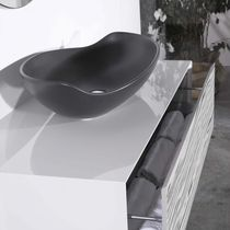 Countertop washbasin / oval / contemporary