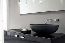 Countertop washbasin / oval / contemporary