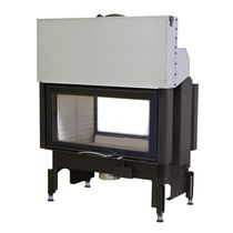 Closed wood hearth / double-sided / metal