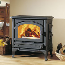 Wood heating stove / traditional / steel / cast iron