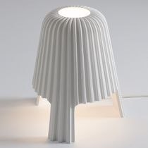 Table lamp / original design / ceramic / white