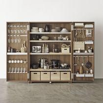 Walnut storage cabinet for kitchen