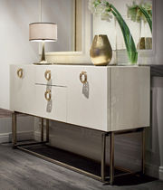Sideboard with long legs / contemporary / wooden / metal