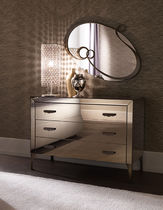Contemporary chest of drawers / wooden / metal
