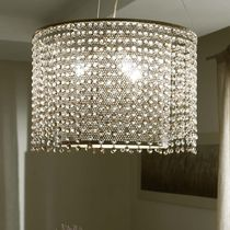 Traditional chandelier / glass / iron / incandescent