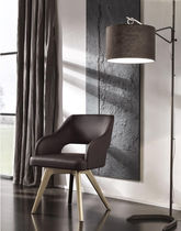 Floor-standing lamp / traditional / metal / canvas