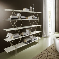 Original design shelf / wooden / metal