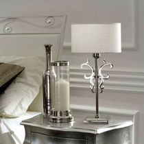 Bedside table lamp / classic / brass / iron