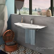 Built-in washbasin / ceramic / contemporary