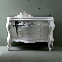 New Baroque design chest of drawers / wooden / gray