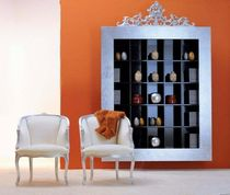Wall-mounted bookcase / New Baroque design / wooden
