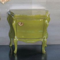 Bedside table / classic / lacquered wood / indoor