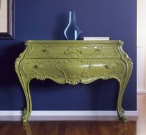 New Baroque design chest of drawers / wooden / green