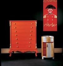 New Baroque design chest of drawers / wooden / red