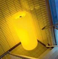 Contemporary light column / polyethylene / metal / LED