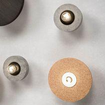 Contemporary wall light / wooden / cement / cork