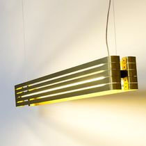 Hanging light fixture / LED / linear / aluminum