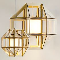 Pendant lamp / contemporary / wooden / PMMA