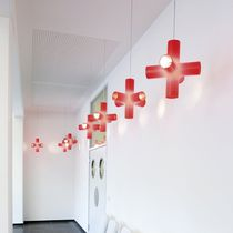 Pendant lamp / original design / aluminum / polyethylene