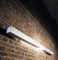 Contemporary wall light / aluminum / polycarbonate / fluorescent