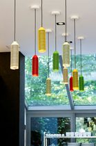 Pendant lamp / contemporary / stainless steel / steel