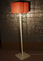 Floor-standing lamp / contemporary / fabric / metal