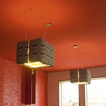 Pendant lamp / contemporary / fabric / metal