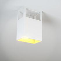 Contemporary ceiling light / rectangular / aluminum / LED