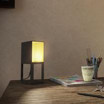 Table lamp / contemporary / aluminum / beige