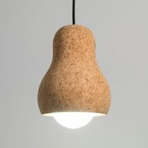 Pendant lamp / contemporary / cork / LED