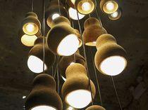 Pendant lamp / contemporary / cork / LED