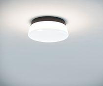 Contemporary ceiling light / round / glass / aluminum