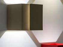 Contemporary wall light / metal / LED / square