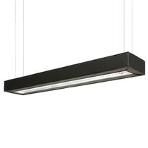 Hanging light fixture / LED / rectangular / metal