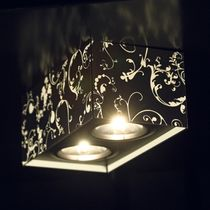 Contemporary ceiling light / rectangular / metal / LED